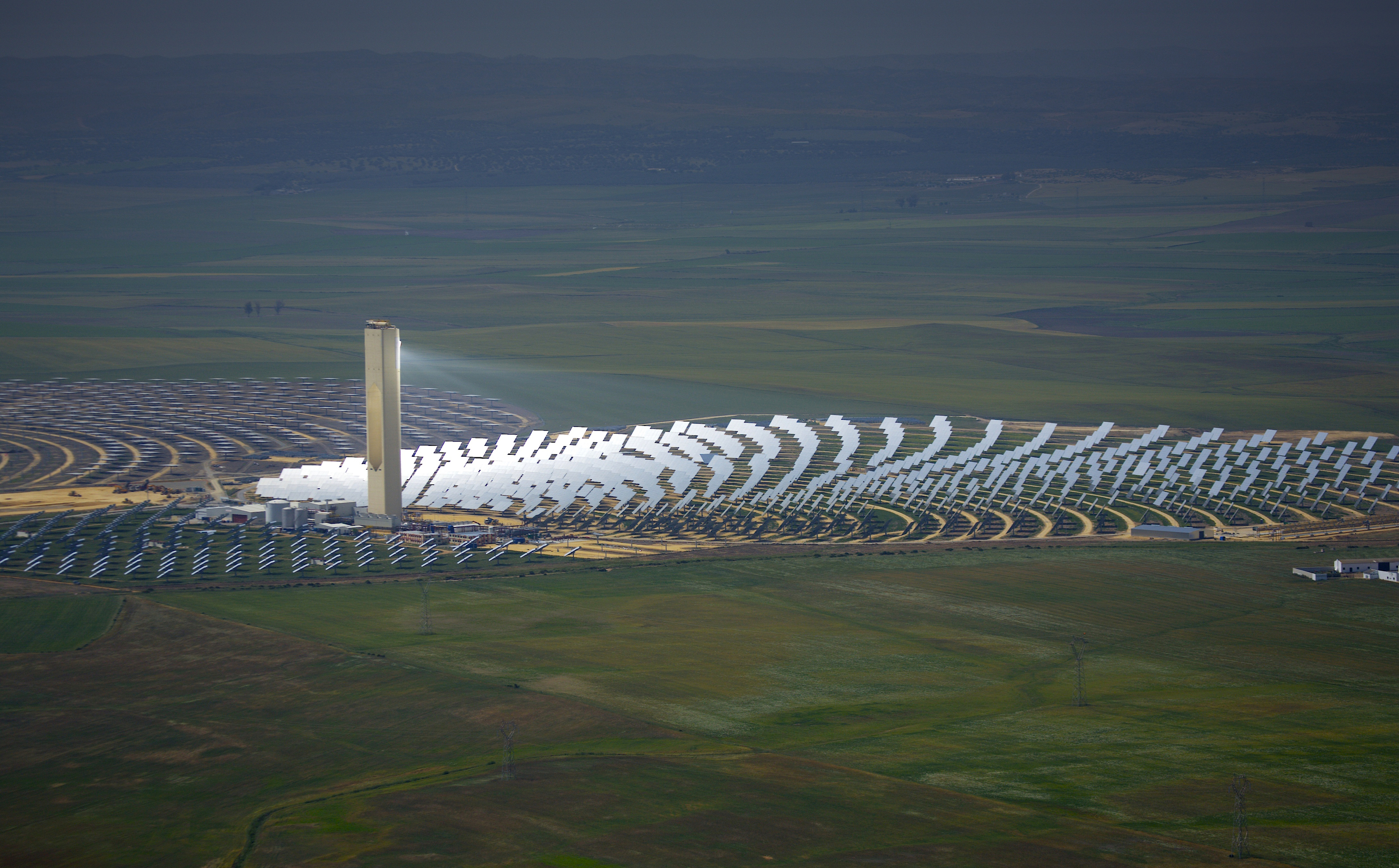 Solar power plant in Solucar la Mayor