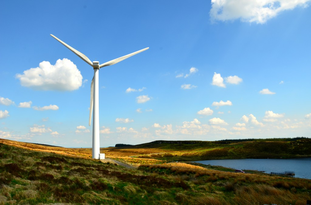 Windturbine on a mountain in the north of Ireland