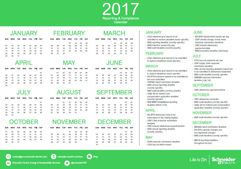 Sustainability Reporting Calendar