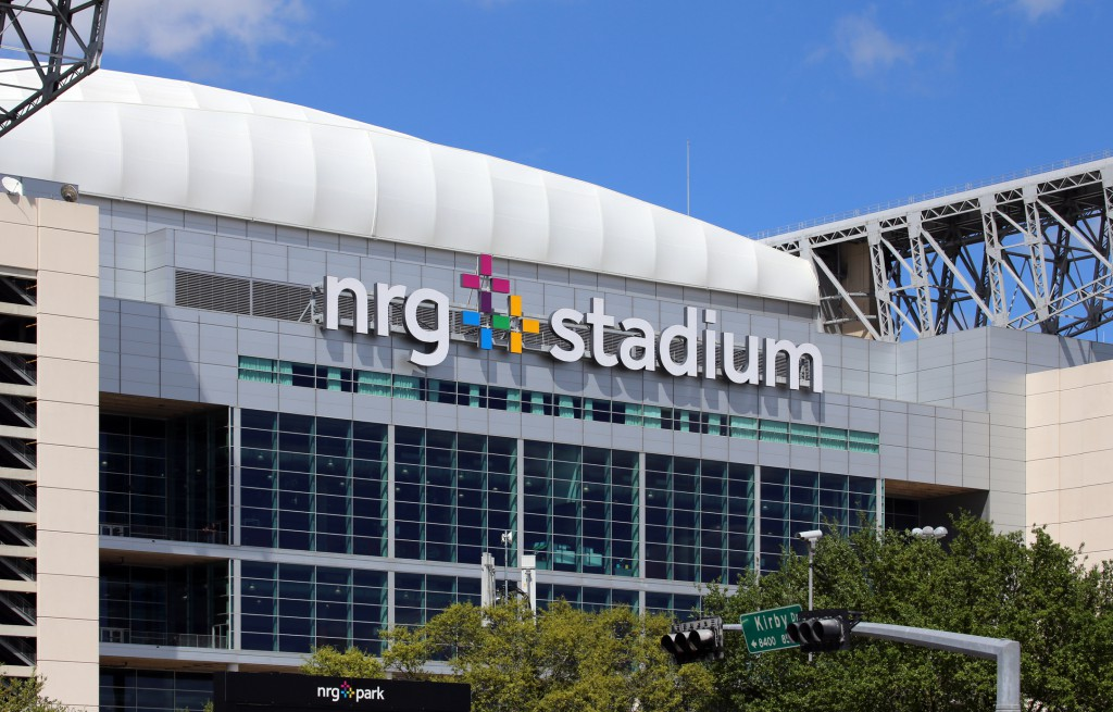 Houston, TX, USA - March 29, 2015: NRG Stadium in Houston, Texas. NRG Stadium is the home stadium of the Houston Texans of the NFL and the site of the 2017 Super Bowl.