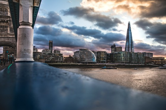sustainability trends, London modern skyline and town hall from the Tower Bridge, UK.
