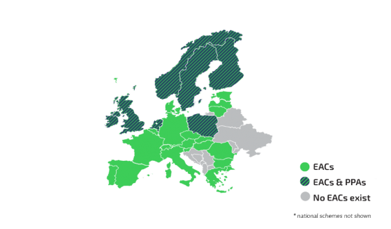 PPAs and EACs in Europe Map