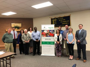 Representatives from Chambers County Schools and Schneider Electric at the presentation of the Savings Milestone Award on February 21, 2018.