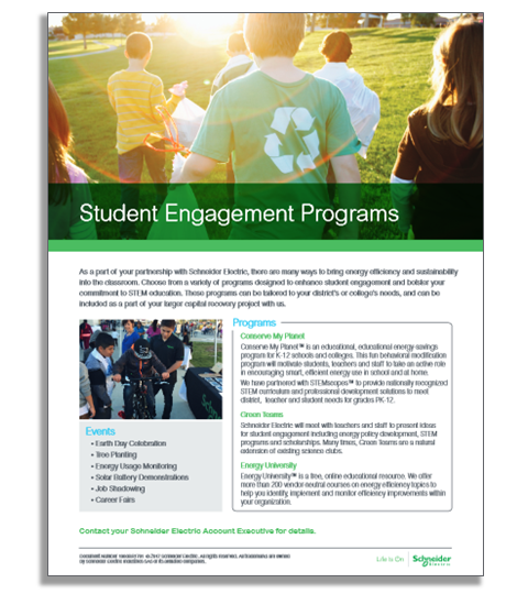 Student Engagement Programs by Schneider Electric include STEM activities for kids